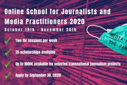 Online škola za novinare i medijske radnike: Mediji i pandemija