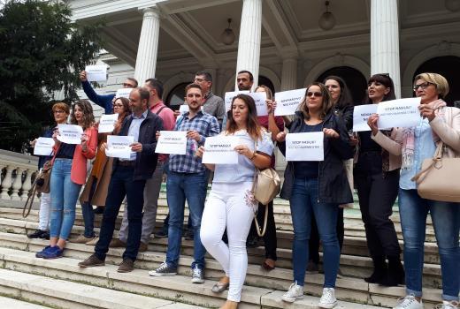 Protesti u Sarajevu: Napad na novinare je napad na demokratiju
