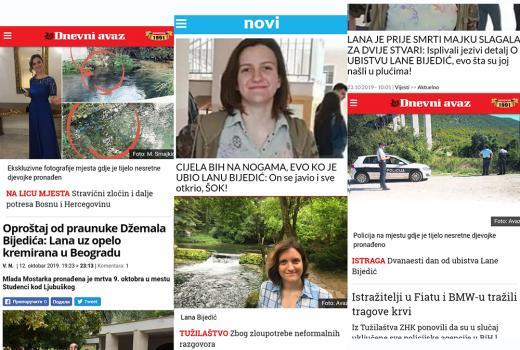 Izvještavanje o tragedijama ili tragedija medija: Slučaj Lane Bijedić