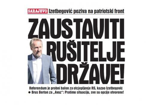 Bakir Izetbegović vs. referendum u RS