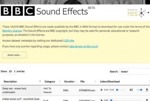 BBC dopušta download 16.000 besplatnih zvukovnih efekata