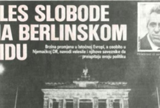 Pad berlinskog zida u štampi SFRJ