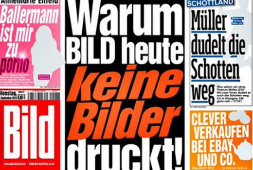 Njemački Bild na jedan dan uklonio sve fotografije iz svog izdanja