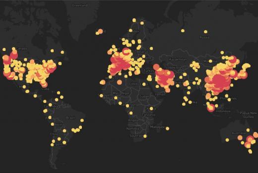 Mape i drugi alati za praćenje širenja koronavirusa (rdn)