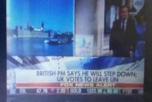 Brexit: Fox News javio da UK izlazi iz UN-a?!