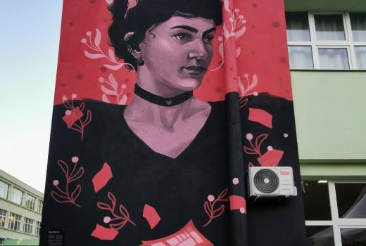 Otkriven mural prve bh. novinarke
