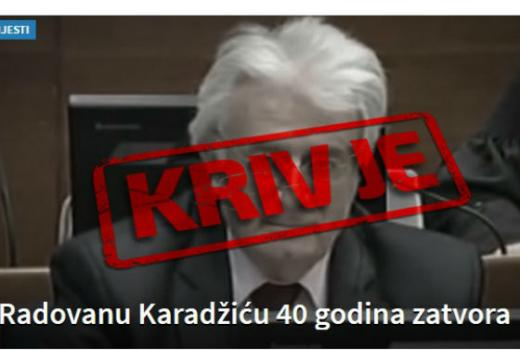 Visina kazne Radovanu Karadžiću prvi fokus medijskih izvještaja