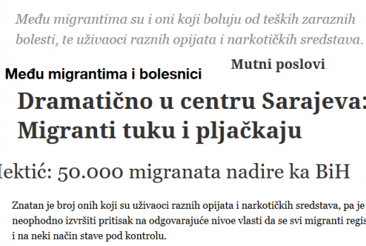 Dnevni avaz prekršio etički kodeks u članku o migrantima