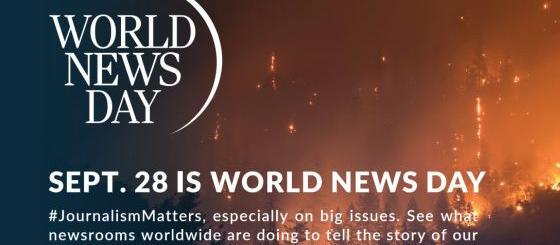 Newsrooms around the world mark World News Day