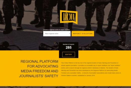 SafeJournalists.net: Baza podataka o napadima na novinare na Zapadnom Balkanu