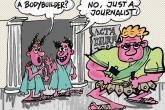 Karikatura: Novinar bodybuilder