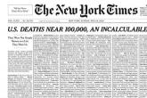 New York Times na naslovnoj strani objavio spisak umrlih od COVID-19